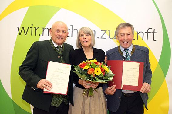 Die Preisträger Karl Buchgraber, Gerlind Weber und Eduard Paminger