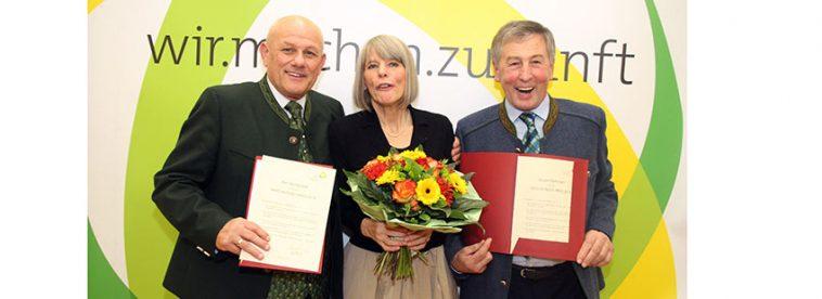 Die Hans-Kudlich-Preisträger 2016: Karl Buchgraber, Gerlind Weber und Eduard Paminger