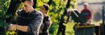 Bauern bei Weinlese