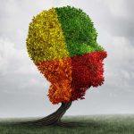 verschiedenfarbiger Kopf als Baum