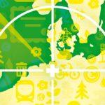Ausschnitt Europakarte; mit grünem Radar