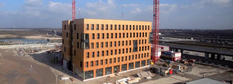 Baustelle Holzhochhaus
