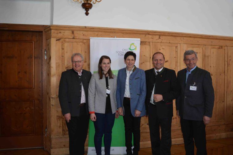 v.l.n.r: Hermann Gahr, Sophia Steixner, Andrea Schwarzmann, Josef Geisler, Toni Steixner