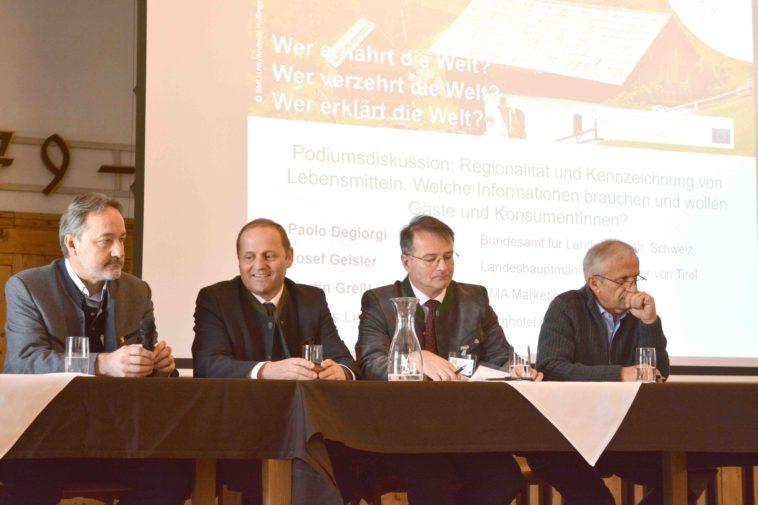 v.l.n.r.: Hannes Lichtmannegger, Josef Geister, Martin Greßl, Paolo Degiorgi