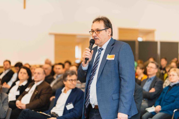 Franz Windisch bei der Publikumsdiskussion