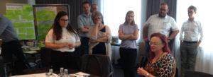 Gruppe erarbeitet im BLOOM-Workshop Kommunikationskonzepte für die Bioökonomie.