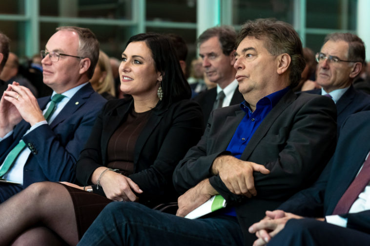 Stephan Pernkopf, Präsident des Ökosozialen Forums; Elisabeth Köstinger, Abgeordnete zum Nationalrat; Werner Kogler, Bundessprecher der Grünen