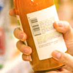 Produktkennzeichnung auf einer Saftflasche