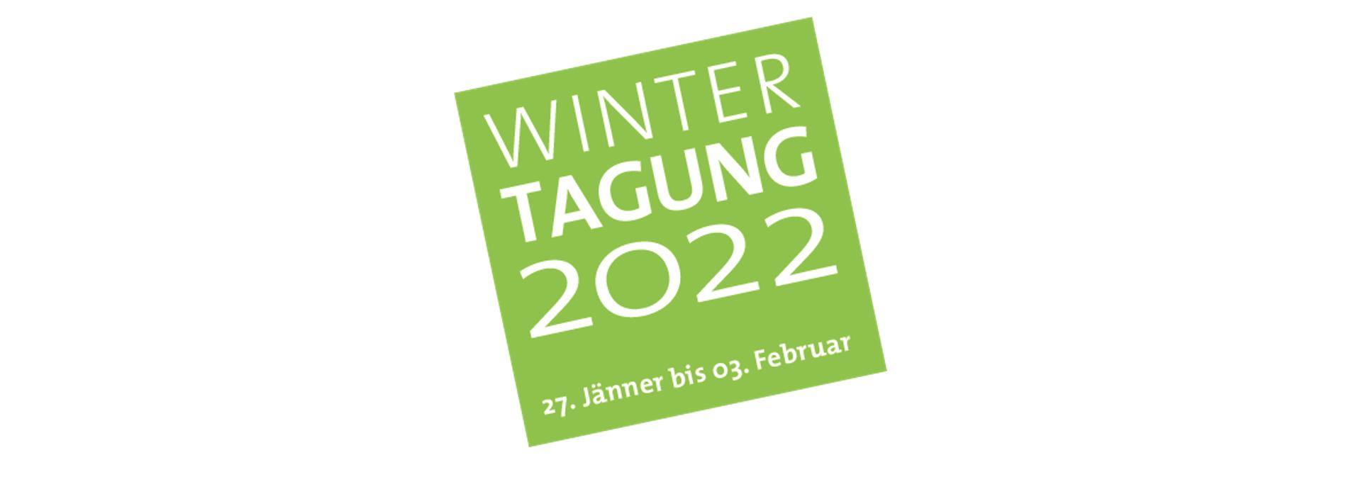 Termin für Wintertagung 2022 vormerken